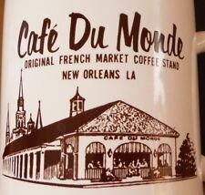 2 VTG Cafe Du Monde Souvenir Coffee Mug New Orleans LA Souvenir French Market
