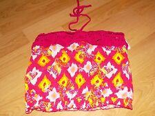 Girls Size 16 Justice Pink Butterfly Print Halter Tank Top Summer Shirt EUC
