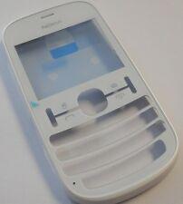 Original Nokia Asha 200 Cover Weiss Dual Sim  Front Oberschale Housing NEU WOW