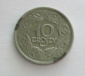 Poland Nickel 10 Groszy 1923, Y11, Circulated