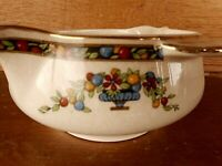 Vintage China PAREEK Johnson Brothers England Gravy Bowl ? Beautiful colorful
