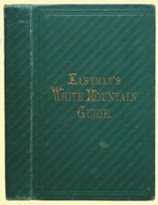 Original 1864 EASTMAN'S WHITE MOUNTAIN GUIDE Fold-Out Maps Conway New Hampshire