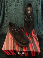 New TUK Black Suede Low Sole Creepers/Shoes Unisex Rockabilly/Punk/Goth/Emo UK 6