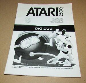 Dig Dug (Instruction Manual Only) for Atari 2600