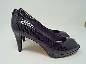 ***STUART WEITZMAN Sz 10.5M patent leather Platform PUMPS black!!