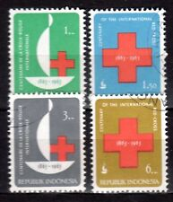 Indonesia - 1963 Red Cross - Mi. 403-06 VFU