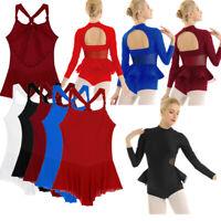 Women Adult Ballet Dance Dress Gymnastic Bodysuit Leotard Dancewear Ice Skating