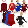 Women Adult Ballet Dance Dress Gymnastic Bodysuit Leotard Dancewear Ice Skating