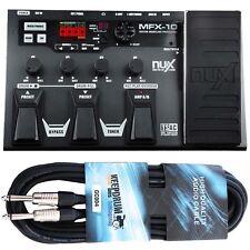 Nux mfx-10 multi-efecto dispositivo para guitarra + KEEPDRUM guitarras cable 3m