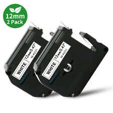 2pk Mk 231 12mm Label Tape Compatible Brother P Touch Label Maker Pt 55 65 75 90