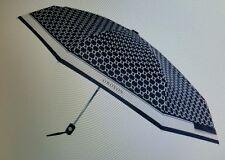 Brand new RRP $ 75.00 Oroton umbrella Black / Milk colour big O signature print