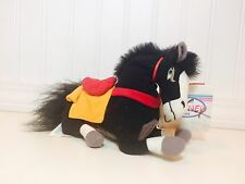 "The Disney Store Exclusive Khan Black Horse Mulan 8"" Mini Bean Bag Plush Nwt"