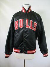 E9130 VTG 90s STARTER Chicago Bulls NBA Basketball Snap Satin Jacket Size S