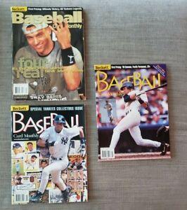 Lot-of-3 Derek Jeter, New York Yankees, Beckett Baseball Card Monthly - No Label
