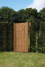 Portón De Madera Jardín lateral puerta featheredge Kit Verde/Marrón tratados 175cm X 90cm