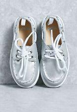 GYMBOREE Kids Girls Shoes tennis Laces Dress Slip On Footwear Silver Gray 13 NEW