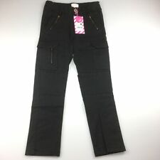Girls size 8, Pumpkin Patch, stretch utility jeans with adjustable waist,