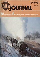 rivista M+F Journal Merker+Fischer 6/1978   bb