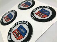 Aufkleber 4 psc x 50 mm Emblem  Alpina  Nabendeckel Radkappen