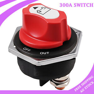 12V-32V 300A Battery Isolation Switch Emergency Stop Switch Durable disconnector