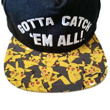 Pokemon Pokeball Flat Bill Snapback Baseball Hat Cap Nintendo Licensed Ball