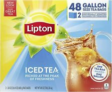 Gallon-Sized Black Iced Tea Bags, Unsweetened, 48 ct - Free Shipping !!