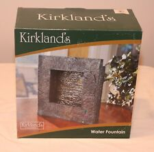 KIRKLAND'S TABLETOP STONE LIKE WATER FOUNTAIN WATERFALL FALL