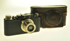 Black Leica Black Paint Rangefinder Camera #82905 Leitz Elmar 50mm F3.5