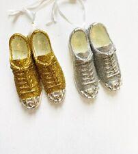 Kurt S. Adler Glitter Sneakers A1189 Christmas Ornaments Gold Silver