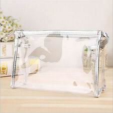 PVC Clear Transparent Case Cosmetic Make Up Bag Toiletry Travel Zipper Gift Nice