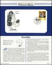 Namibia 1998 Diana Princess Of Wales FDC + Info Card Page #V6514