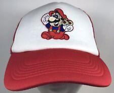 Nintendo Super Mario Bros World 8bit Snapback Trucker Cap Hat Mushroom