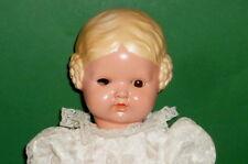 ANTIQUE SCHILDKRÖT poupée Bärbel blond escargots 45cm poupées défectueux