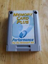 Nintendo 64 Memory Card Plus by Performance N64 P-375AE Free Shipping