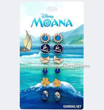 Disney Moana Pua Stud Earrings Set 6 Pack Mix & Match Heart Of Te Fiti Shell NWT