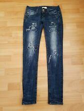 Splendido Bisou D'EVE Vita Bassa Strappato Jeans, Taglia EUR34-in buonissima condizione