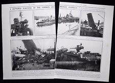 GERMAN TORPEDO SHIP CRAFT V69 V 69 IJMUIDEN HOLLAND WW1 2pp PHOTO ARTICLE 1917