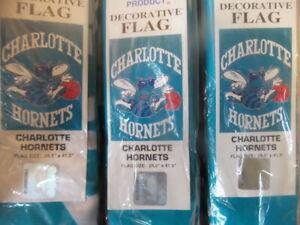 "Wholesale Lot: -12 NBA Charlotte Hornets 29"" x41"" Large Flags $5 Each"
