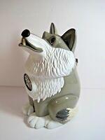 Vintage 1998 Fun-Damental Howling Wolf Cookie Jar Works Great Batteries Included
