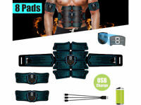 LCD Display 8 Pads Abdominal Muscle Toner Abs Hip Trainer EMS Muscle Simulator