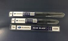Subaru 2008-2014 Wrx Sti Front & Rear Windshield Wiper Blade Set Genuine OEM