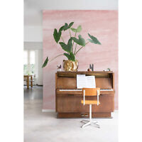 Pink brush removable pink wall mural Reusable self adhesive wallpaper Decal