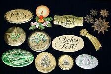 Frohe Weihnachten Spezialfabrik geprägte Etiketten/Siegelmarken Josef B. Scholz