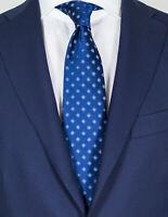 Luigi Borrelli Tie IN Dark Blue With White-Blue Flowers RegEUR150