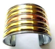 Copper Brass Oxidized Cuff Bracelet Charms Kada Wristlet Band Bangle Jewelry 47