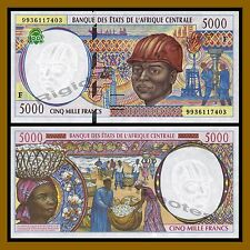 Central African States, Central African Republic 5000 Francs, 1999 P-304Fe Unc