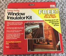 3M Indoor Window Insulator Kit for 4 Sizes (3x5) Energy Saving