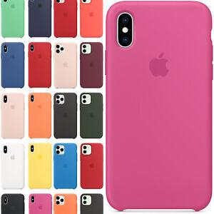 Cover Silicone Originale Custodia Per Iphone 6 6s 7 8 X Xs Max Xr 11 12 Pro Mini