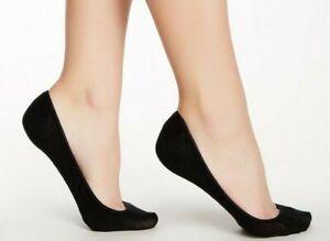 👍 Med/Large 💖🧦 Hue Women Hidden Cotton Liner Socks Value 4 Pack Seamless Toe