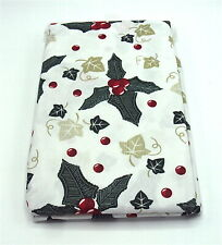 """Christmas Holly & Ivy  Design Wipe Clean Tablecloth Rectangular 52"""" x 70"""""""